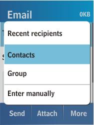 Samsung C3300K - E-mail - Sending emails - Step 6