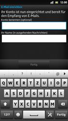 Sony Xperia S - E-Mail - Konto einrichten - Schritt 15