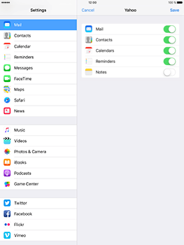 Apple iPad Mini 3 iOS 10 - E-mail - Manual configuration (yahoo) - Step 8