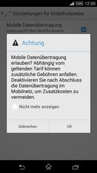 Sony Xperia Z1 - Internet und Datenroaming - Prüfen, ob Datenkonnektivität aktiviert ist - Schritt 7
