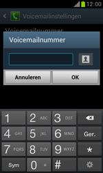 Samsung S7560 Galaxy Trend - Voicemail - Handmatig instellen - Stap 8