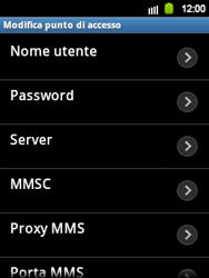 Samsung Galaxy Y - MMS - Configurazione manuale - Fase 10