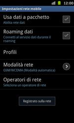 Samsung Galaxy S Advance - Rete - Selezione manuale della rete - Fase 11