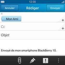 BlackBerry Q10 - E-mails - Envoyer un e-mail - Étape 9
