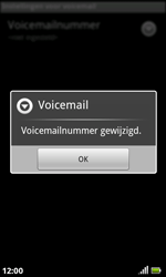 Acer Liquid S100 - Voicemail - handmatig instellen - Stap 8