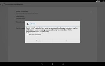 Sony Xperia Tablet Z2 (SGP521) - Internet - aan- of uitzetten - Stap 7