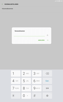 Samsung Galaxy Tab A 10.1 - Android Nougat - Voicemail - Handmatig instellen - Stap 8