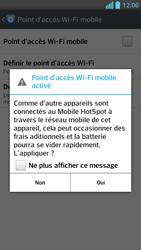 LG Optimus F5 - Internet et connexion - Partager votre connexion en Wi-Fi - Étape 9