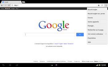 Sony Xperia Tablet Z LTE - Internet et roaming de données - Navigation sur Internet - Étape 10