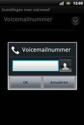 Sony Ericsson Xperia Mini Pro - Voicemail - handmatig instellen - Stap 7