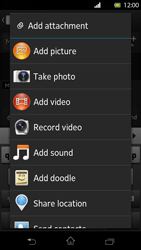 Sony LT30p Xperia T - MMS - Sending pictures - Step 11