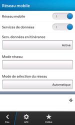BlackBerry Z10 - Aller plus loin - Désactiver les données à l'étranger - Étape 6