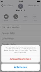 Apple iPhone 5s mit iOS 11 - Anrufe - Anrufe blockieren - Schritt 6