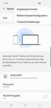 Samsung Galaxy S10 Plus - WiFi - So aktivieren Sie einen WLAN-Hotspot - Schritt 9