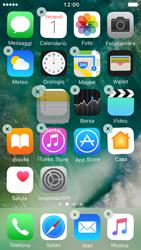Apple iPhone 5s iOS 10 - Operazioni iniziali - Personalizzazione della schermata iniziale - Fase 4