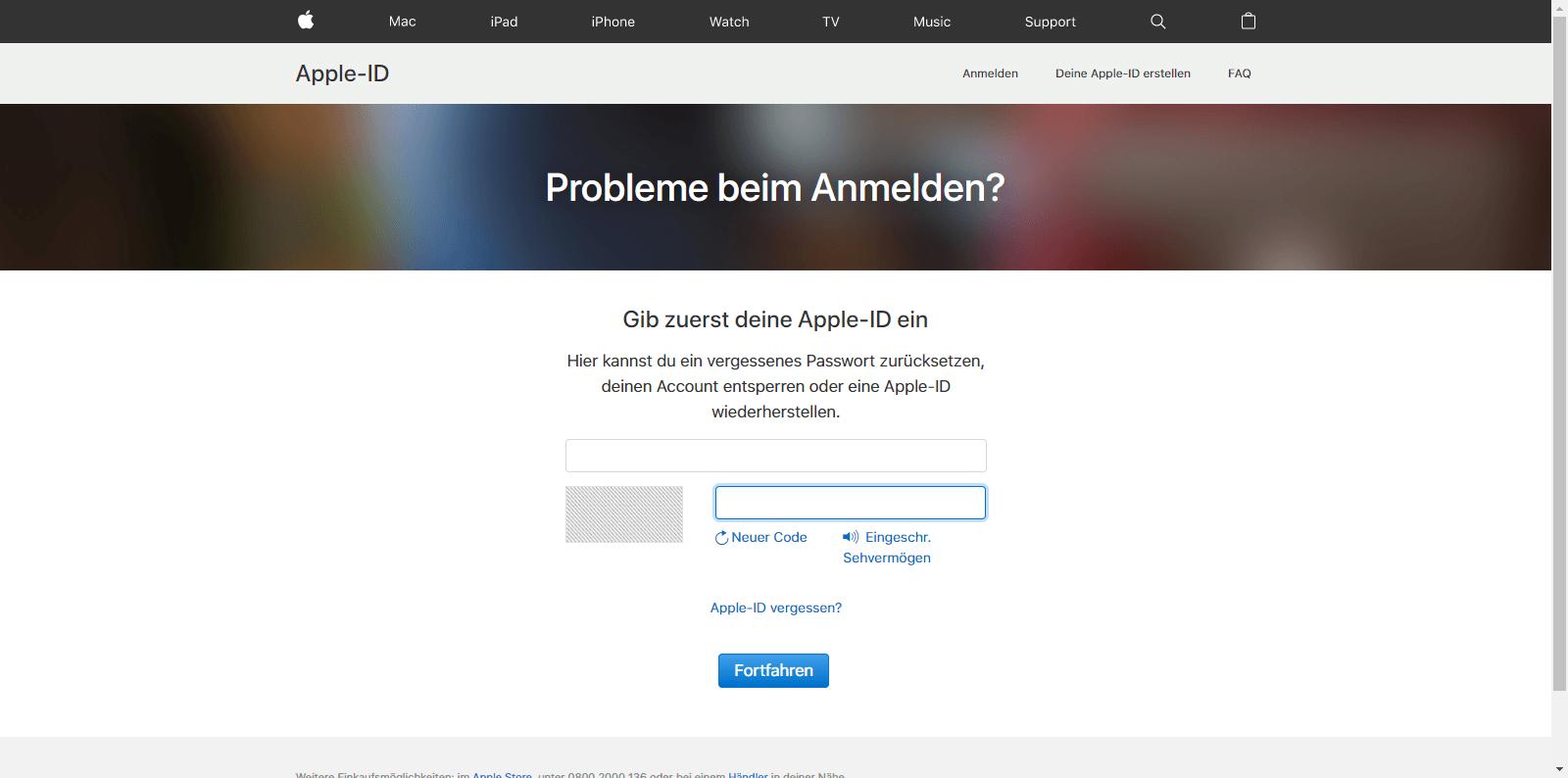 Apple iPhone 5 - Datenschutz und Sicherheit - Apple ID vergessen (Option 1) - 4 / 10