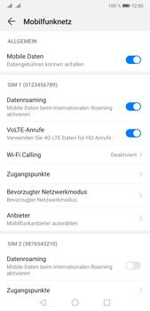 Huawei P20 Pro - Android Pie - Internet und Datenroaming - Deaktivieren von Datenroaming - Schritt 5