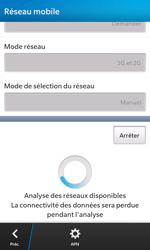 BlackBerry Z10 - Réseau - Sélection manuelle du réseau - Étape 8