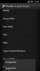 Sony Xperia U - Internet et roaming de données - Configuration manuelle - Étape 14