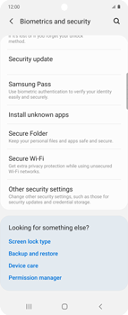 Samsung Galaxy Z flip - Getting started - How to enable a SIM pin - Step 5