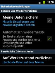 Samsung S5360 Galaxy Y - Fehlerbehebung - Handy zurücksetzen - Schritt 7