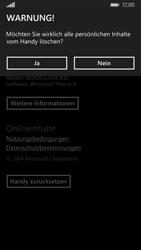 Nokia Lumia 830 - Fehlerbehebung - Handy zurücksetzen - Schritt 9
