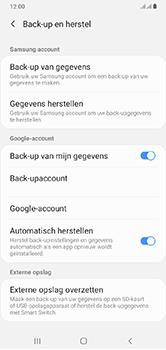 Samsung Galaxy A10 - toestel resetten - back-up maken met jouw account - stap 9