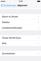 Apple iPhone 4S iOS 7 - Gerät - Zurücksetzen auf die Werkseinstellungen - Schritt 4