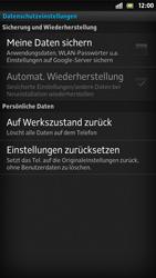 Sony Xperia S - Fehlerbehebung - Handy zurücksetzen - Schritt 7