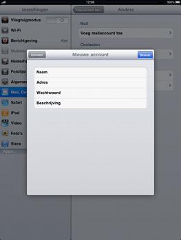 Apple iPad - E-mail - handmatig instellen - Stap 6