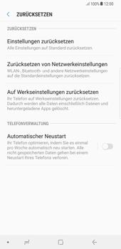 Samsung Galaxy S8 Plus - Android Oreo - Gerät - Zurücksetzen auf die Werkseinstellungen - Schritt 6