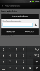 HTC One - Anrufe - Rufumleitungen setzen und löschen - 7 / 9