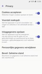 Samsung Galaxy S7 - Privacy - Privacy instellingen van de browser aanpassen - Stap 9