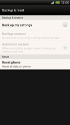 HTC One X - Mobile phone - Resetting to factory settings - Step 6