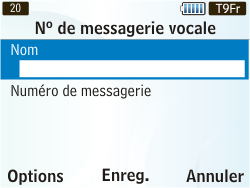 Samsung S3350 Chat 335 - Messagerie vocale - Configuration manuelle - Étape 6