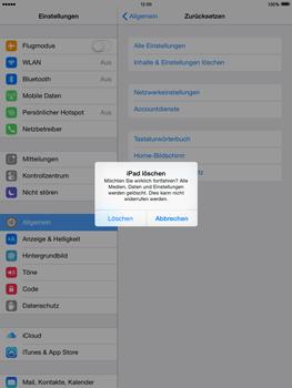 Apple iPad mini 2 - iOS 8 - Gerät - Zurücksetzen auf die Werkseinstellungen - Schritt 7
