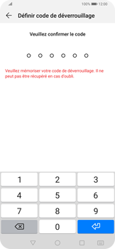 Huawei P Smart Z - Sécuriser votre mobile - Activer le code de verrouillage - Étape 7