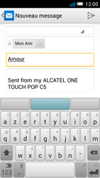 Alcatel OT-5036X Pop C5 - E-mail - Envoi d