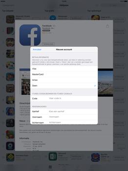 Apple iPad Pro 12.9 inch met iOS9 (Model A1652) - Applicaties - Account aanmaken - Stap 17