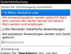 BlackBerry Bold Touch - Fehlerbehebung - Handy zurücksetzen - 8 / 13
