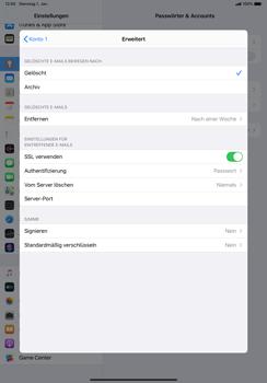 Apple iPad Pro 10.5 (1st gen) - iPadOS 13 - E-Mail - Manuelle Konfiguration - Schritt 22
