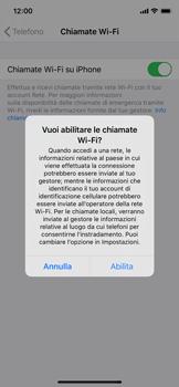 Apple iPhone XS - iOS 13 - WiFi - Attivare WiFi Calling - Fase 7