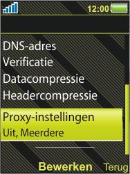 Sony Ericsson W995 - MMS - handmatig instellen - Stap 14