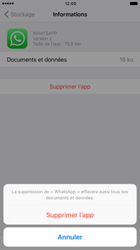 Apple Apple iPhone 7 Plus - Applications - Comment désinstaller une application - Étape 8