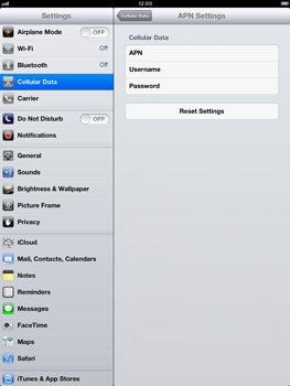 Apple iPad mini - Internet and data roaming - Manual configuration - Step 6
