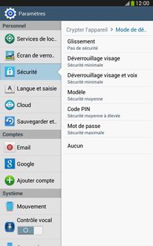 Samsung Galaxy Tab 3 8 4G - Sécuriser votre mobile - Activer le code de verrouillage - Étape 7