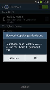 Samsung Galaxy Note III LTE - Bluetooth - Verbinden von Geräten - Schritt 7