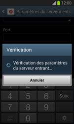 Samsung S7390 Galaxy Trend Lite - E-mail - Configuration manuelle - Étape 12