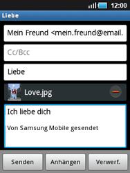 Samsung S5570 Galaxy Mini - E-Mail - E-Mail versenden - Schritt 13