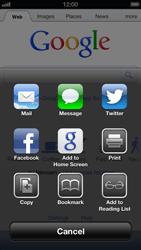 Apple iPhone 5 - Internet - Internet browsing - Step 4